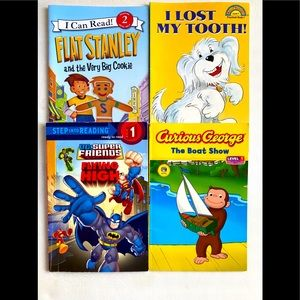Lightly used 4 -pack Early Reader books